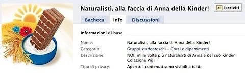 Facebook | Naturalisti, alla faccia di Anna della Kinder!.jpg