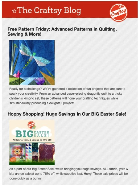 Free Pattern Friday Advanced Patterns in Quilting Sewing  More  The Craftsy Blog  Inbox